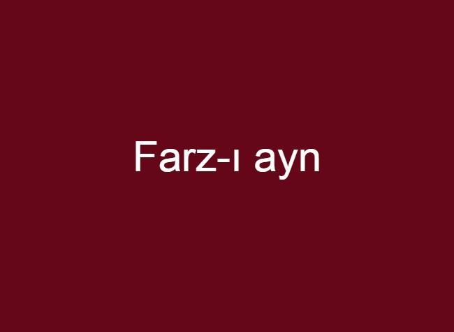 Farz-ı ayn