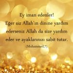 Muhammed suresi 7. Ayet meal tefsiri
